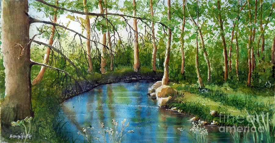 Landscapes Painting - Hidden treasure by Marisa Gabetta