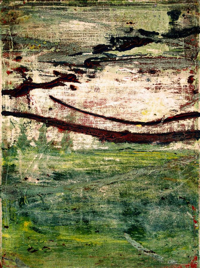 Green Painting - Hidden Treasures by Natalie Starnes