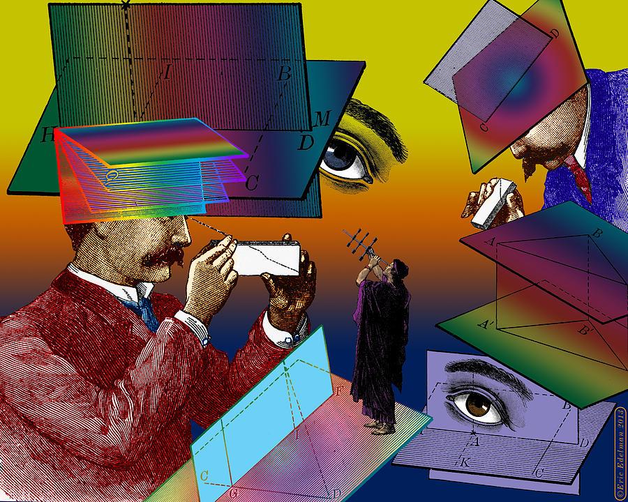 Digital Collage Digital Art - Hide And Seek by Eric Edelman