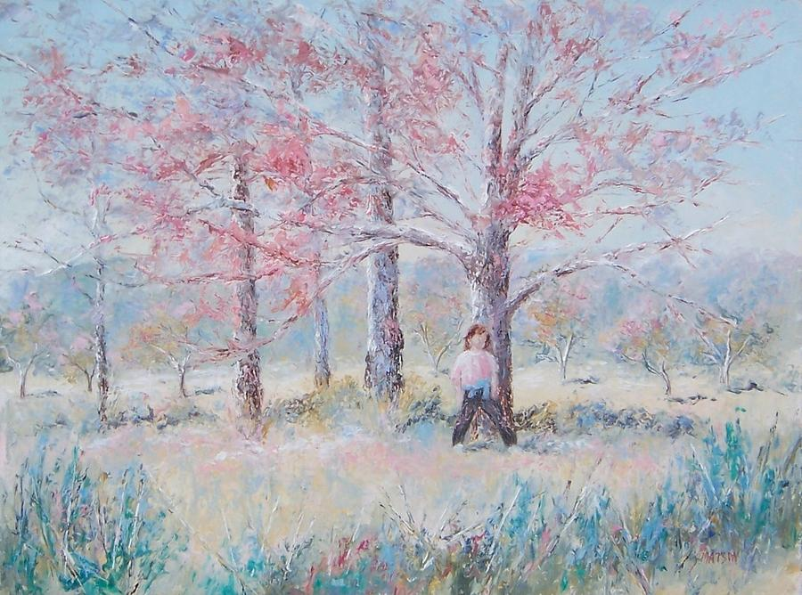 Landscape Painting - Hide And Seek by Jan Matson