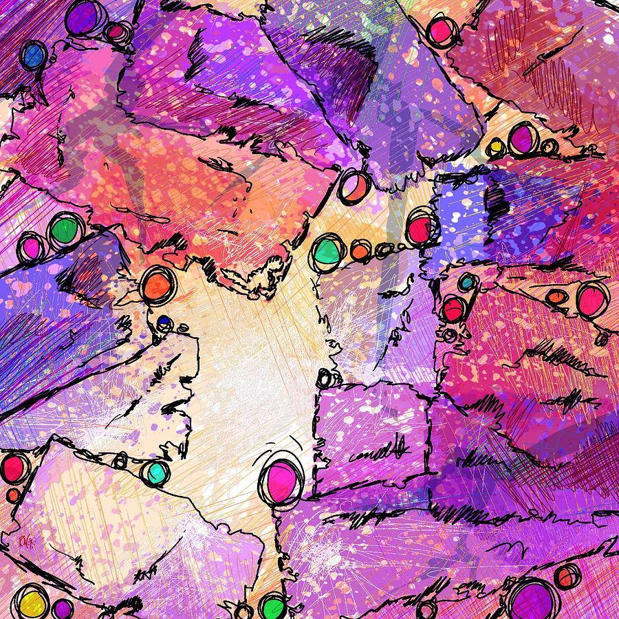 Abstract Digital Art - Hide And Seek by Rachel Christine Nowicki