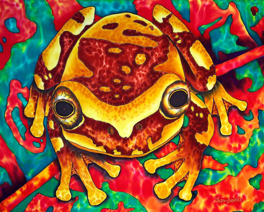 Tree Frog Painting - Hiding Beautiful Maria by Daniel Jean-Baptiste