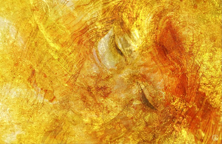 Girl Digital Art - Hiding In Yellow by Gun Legler