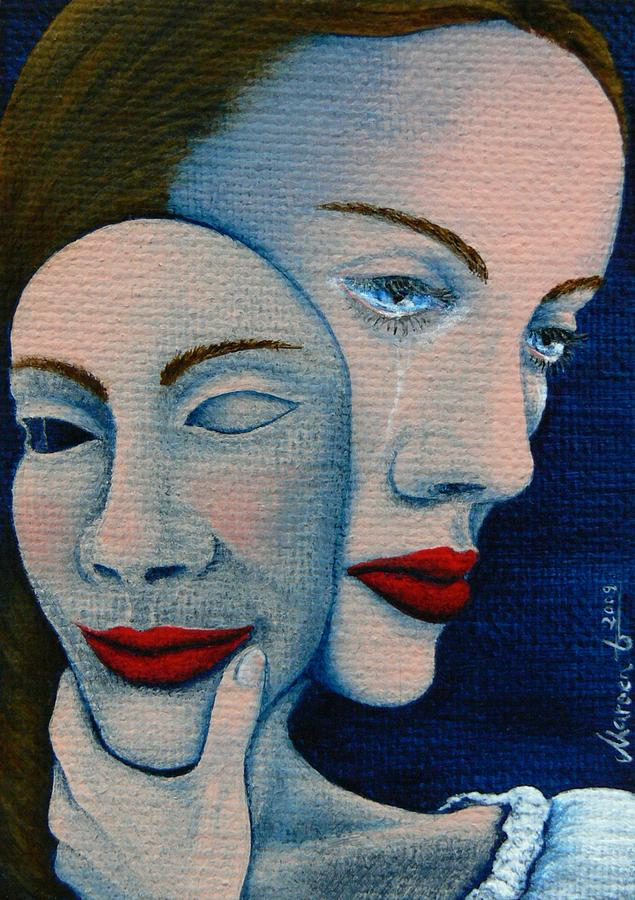 Hiding The Truth Painting by Mareen Haschke