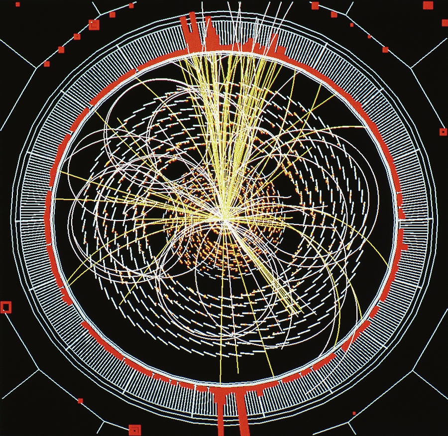 Higgs Boson Photograph - Higgs Boson Decay Model by Cern/science Photo Library