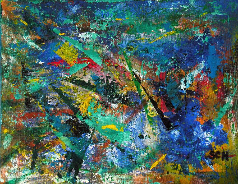 Abstract Expressionism Painting - Higgs Field Activity -or- Paint by Scott Haley