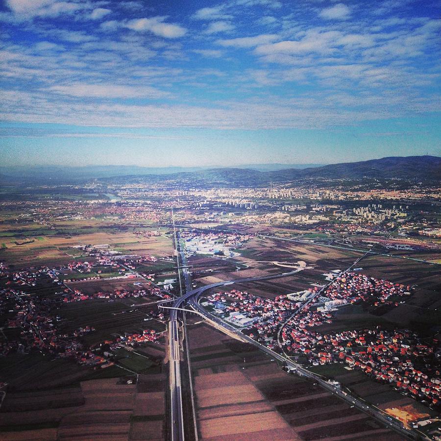 High Angle Aerial View Of Croatia Photograph by Yulia Reznikov