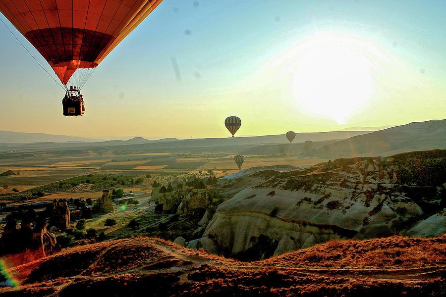 High Angle View Hot Air Balloons Photograph by Ximena Guevara / Eyeem