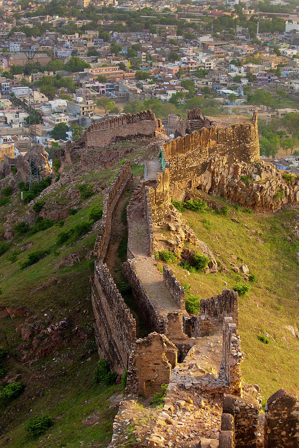 High Angle View Of Amer Fort Photograph by Ron Nickel / Design Pics