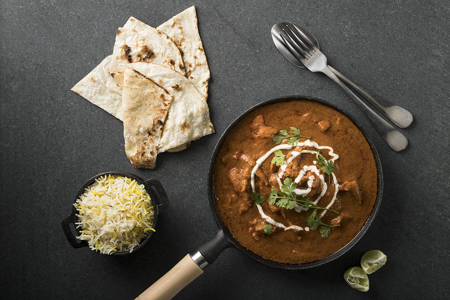 High Angle View Of Butter Chicken Curry. Photograph by Jenner Images