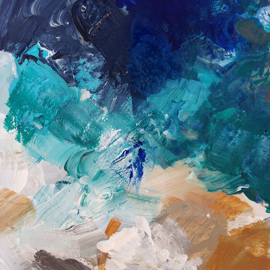Abstract Painting Painting - High As A Mountain- Contemporary Abstract Painting by Linda Woods
