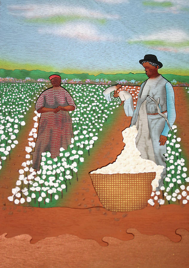 Wood Painting - High Cotton by Fred Gardner