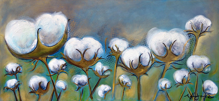 High Cotton In Blues Painting By Nancy Hilliard Joyce