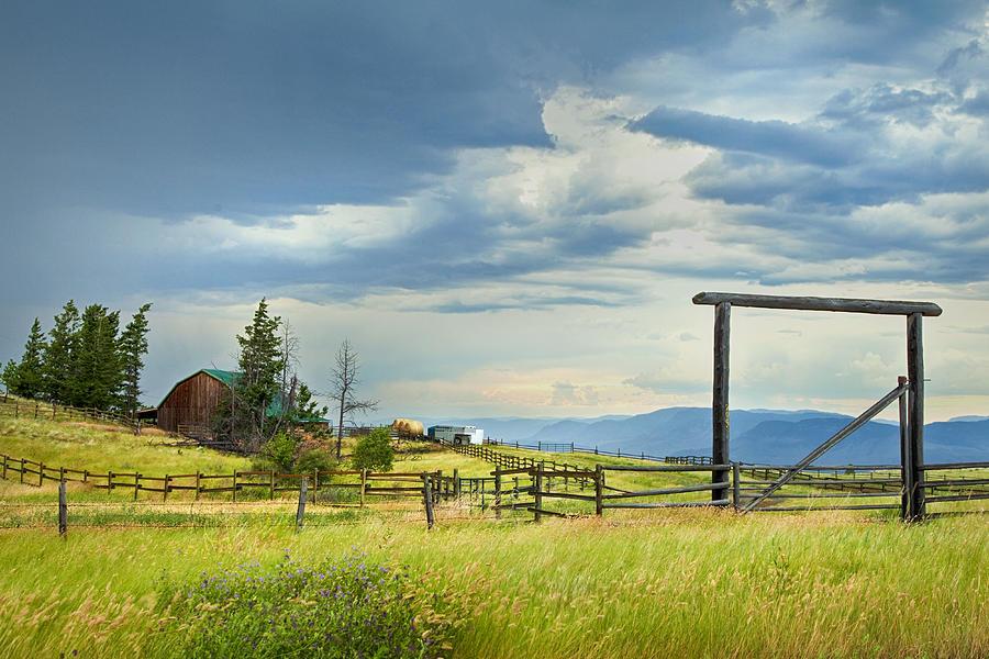 British Columbia Photograph - High Country Farm by Theresa Tahara