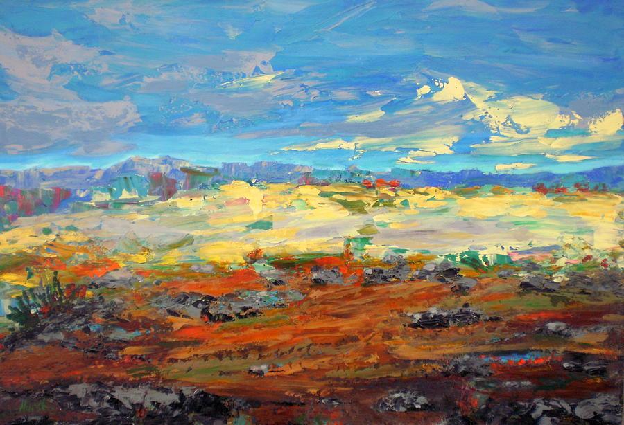 Desert Painting - High Desert by Marilyn Hurst