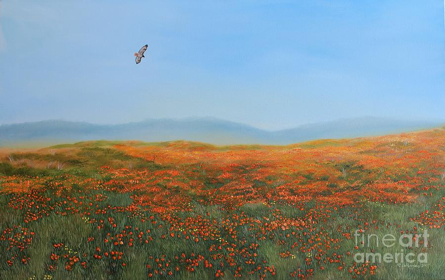 Poppies Painting - High Desert Poppies by Gina DeRuggiero