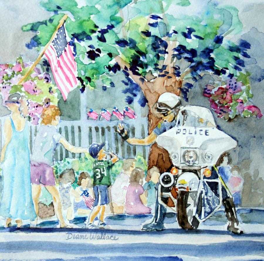 Parade Painting - High Five by Diane Wallace