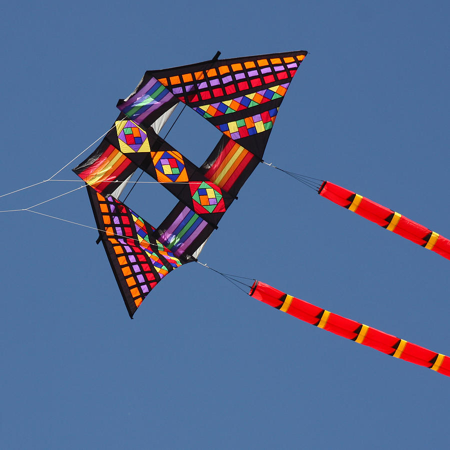 Kite Photograph - High Flying Kite by Art Block Collections
