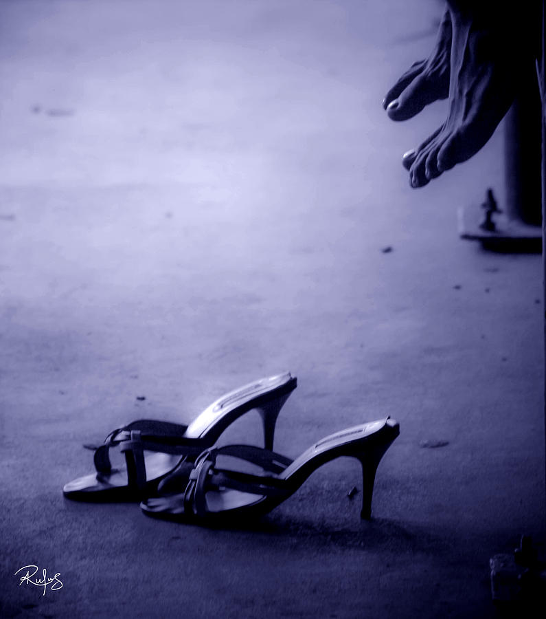 High Heel Shoes Photograph - High Heel Shoes Waiting in the Moonlight by Allan Rufus