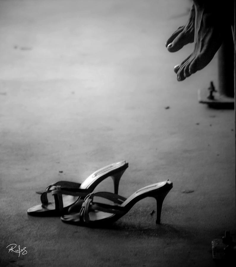 High Heel Shoes Photograph - High Heels Awaiting by Allan Rufus