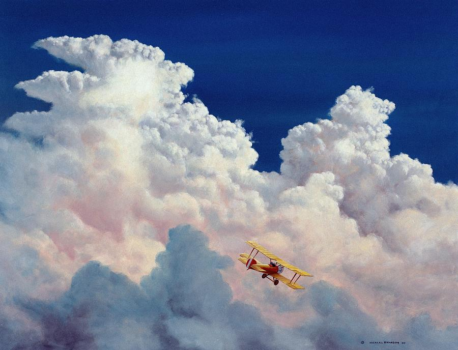 Aviation Painting - High In The Halls Of Freedom by Michael Swanson