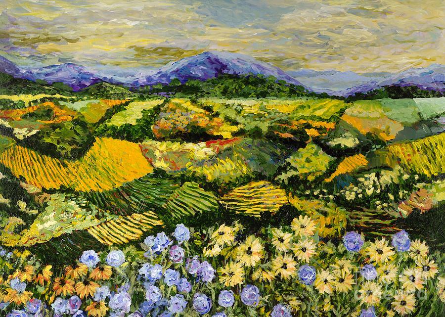 Landscape Painting - High Journey by Allan P Friedlander