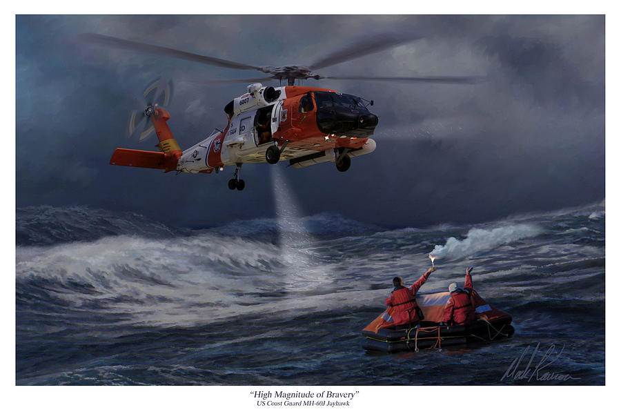 Aviation Painting - High Magnitude of Bravery by Mark Karvon