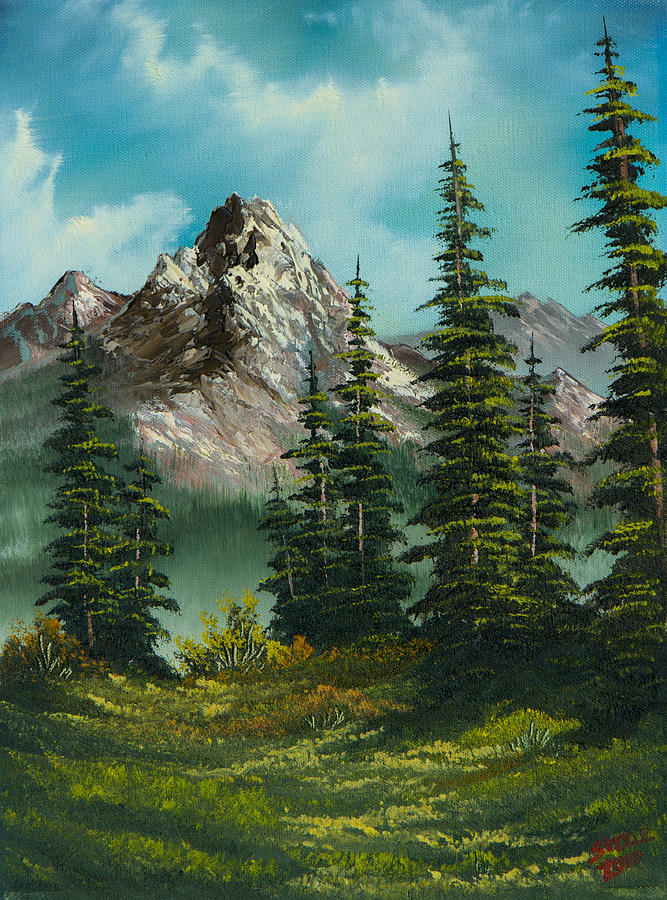 Landscape Painting - High Meadow by Chris Steele