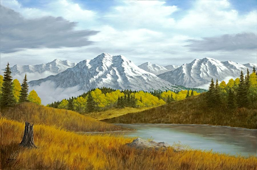 High Mountain Autumn Painting By Rick Bainbridge