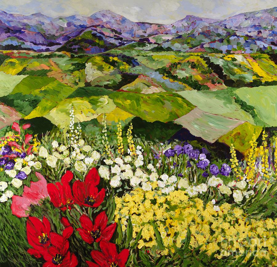 Landscape Painting - High Mountain Patch by Allan P Friedlander