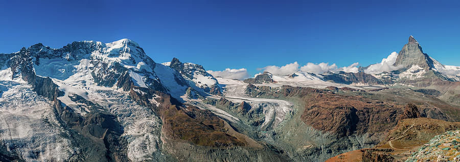 High Mountains Of Pennine Alps In Photograph by Alpamayophoto