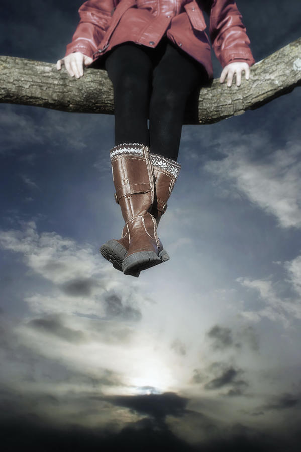 Girl Photograph - High Over The World by Joana Kruse