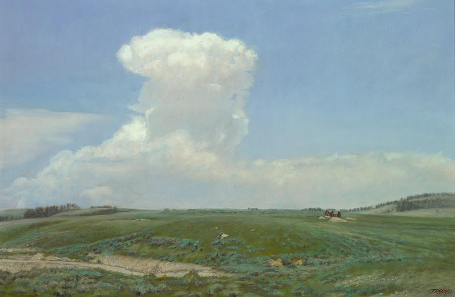 Landscape Painting - High Plains Big Sky by Terry Guyer