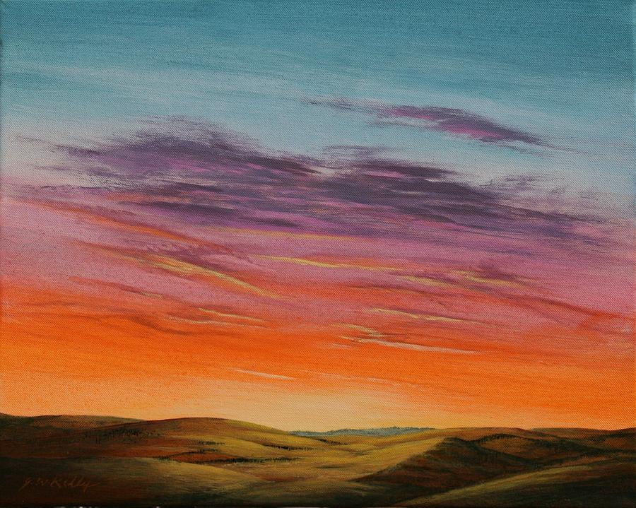High Plains Painting - High Plains Sunset by J W Kelly