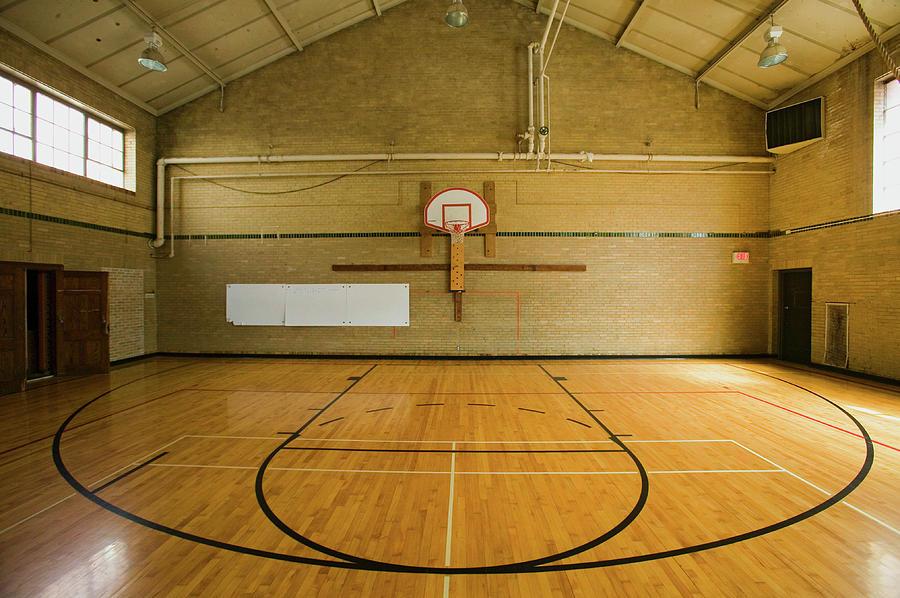 High school basketball court images