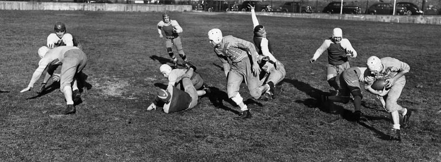 1941 Photograph - High School Football, 1941 by Granger