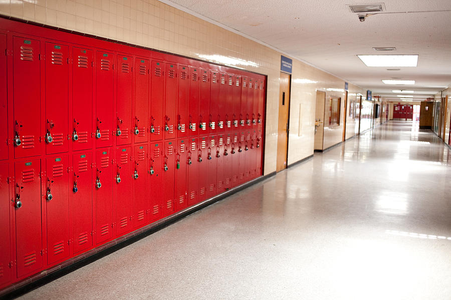 High School Hallway And Lockers Photograph by Manley099