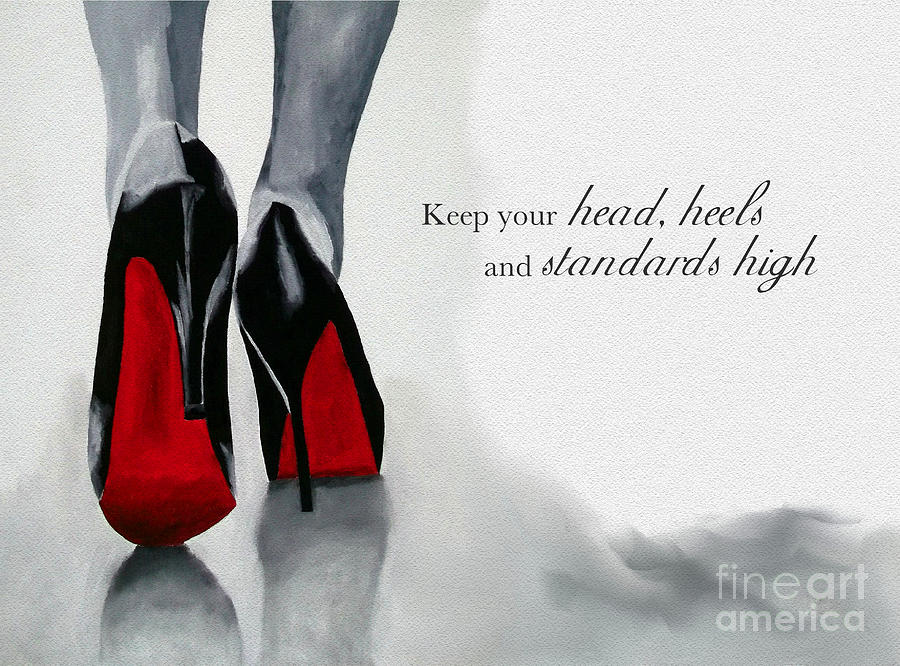 Christian Louboutin Mixed Media - High Standards by My Inspiration