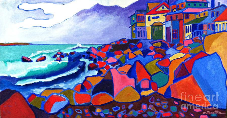 Landscape Painting - High Tide Boars Head NH by Debra Bretton Robinson