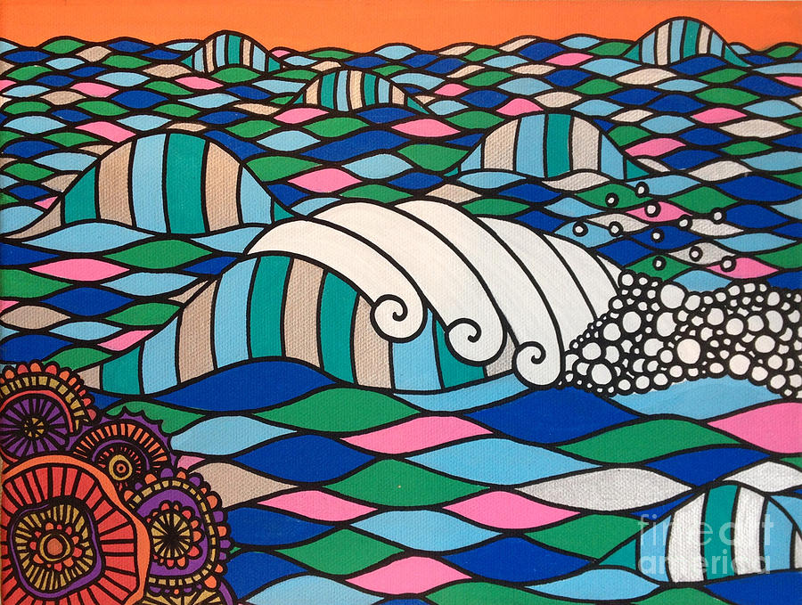 Waves Digital Art - High Tide High Love by MGL Meiklejohn Graphics Licensing