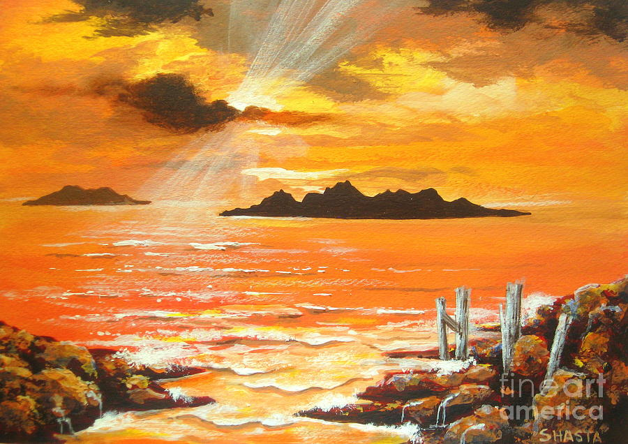 High  Tide Painting by Shasta Eone