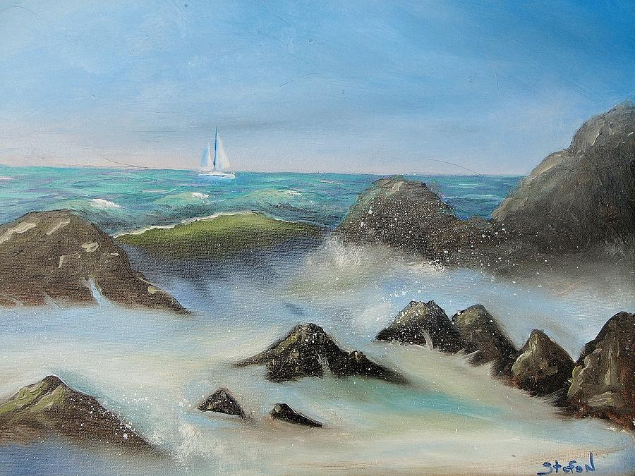 Ocean Painting - High Tide by Stefon Marc Brown