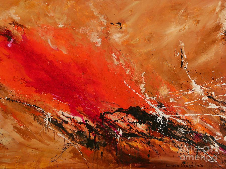 Fun Painting - High Time - Abstract Art by Ismeta Gruenwald
