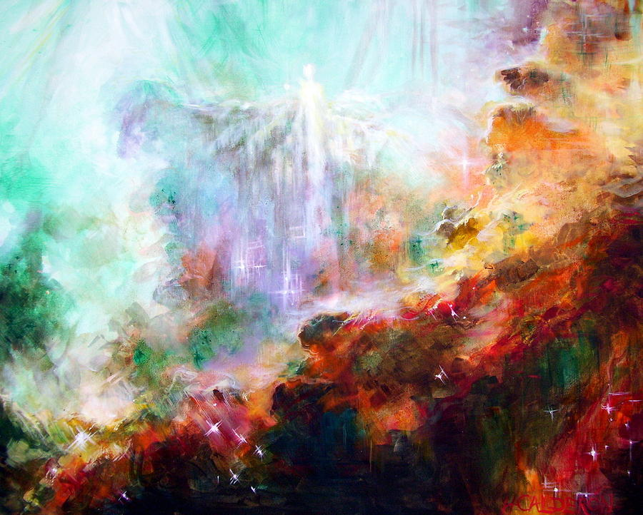 Stars Painting - Higher Self by Heather Calderon