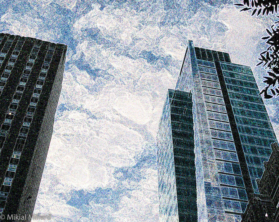 Buildings Painting - Higher Sight by Aeabia A