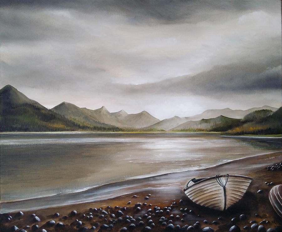 Highland Painting - Highland Evening by Sean Afford