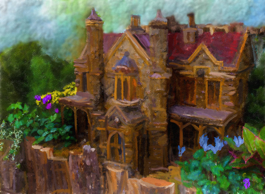 Digital Art Digital Art - Highland Gardens C 1838 by Jill Balsam
