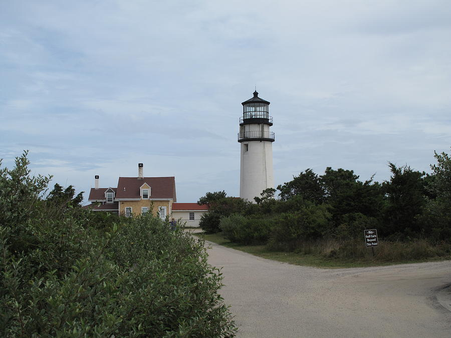 Lighthouse Photograph - Highland Light Aka Cape Cod Light by Barbara McDevitt