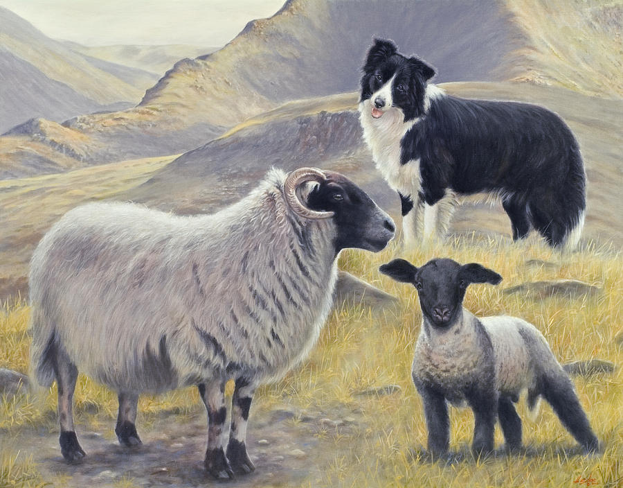 Dog Painting - Highland Spirit by John Silver