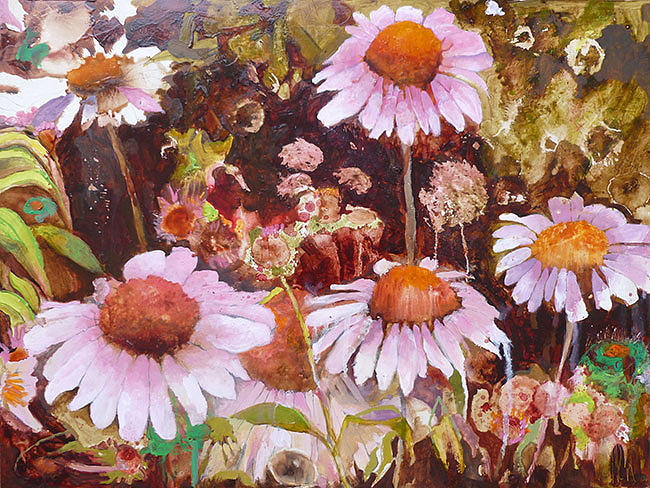 Cityscape Painting - Highline Flowers by Joanne Orce